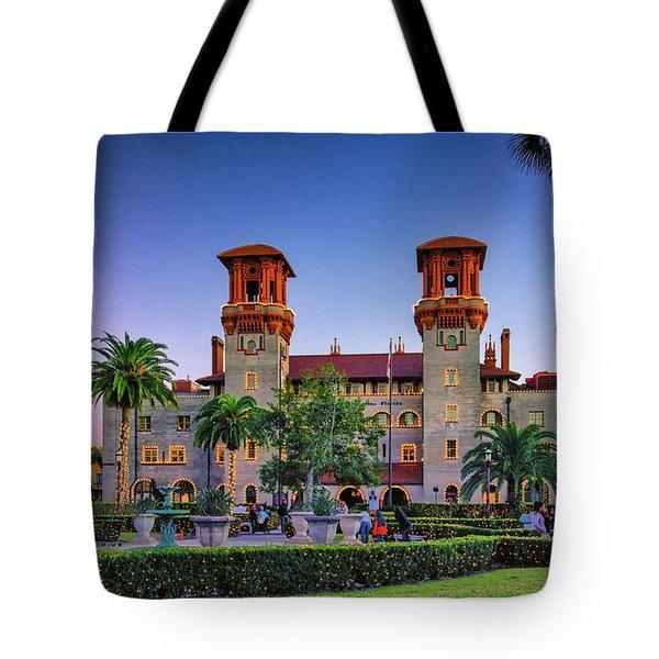 St. Augustine, Fl - Lightner Lights Tote Bag