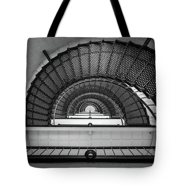 St Augustine Florida Lighthouse Anastasia Island Fl Black And White Architecture Tote Bag