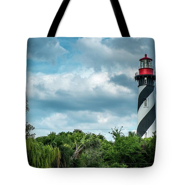 Tote Bag featuring the photograph St. Augustine Lighthouse by Louis Ferreira
