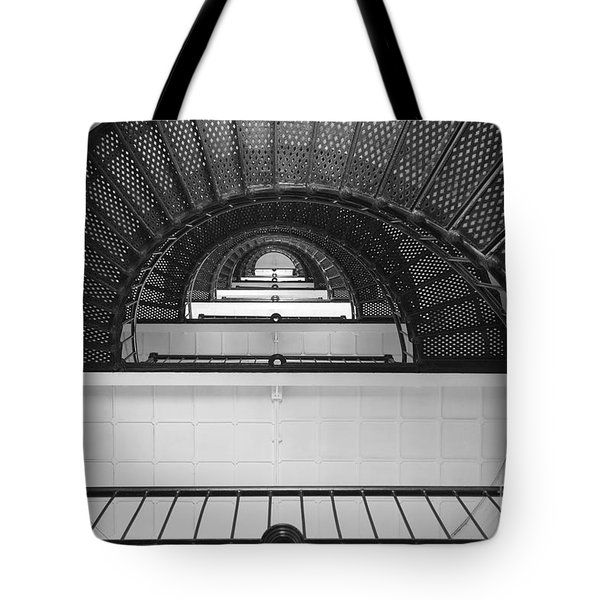 St. Augustine Lighthouse Spiral Staircase IIi Tote Bag by Clarence Holmes