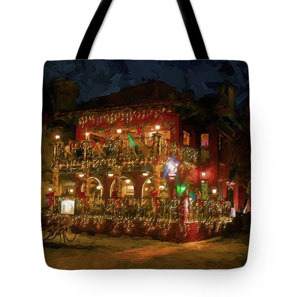 Tote Bag featuring the photograph  St. Augustine Meehan's Pub by Louis Ferreira
