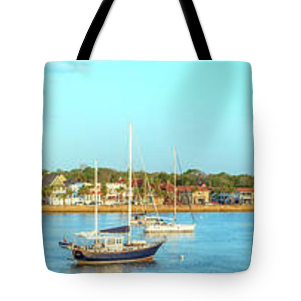 Tote Bag featuring the photograph St Augustine Panorama by Sebastian Musial