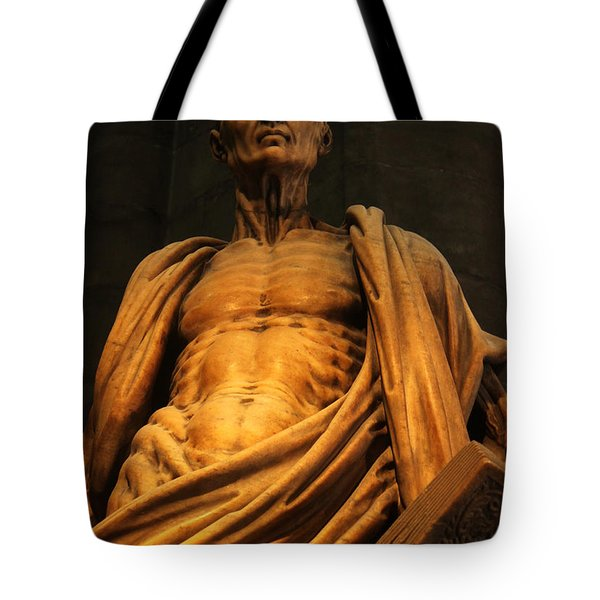 St. Bartholomew In Milan Cathedral By Marco D'agrate Tote Bag