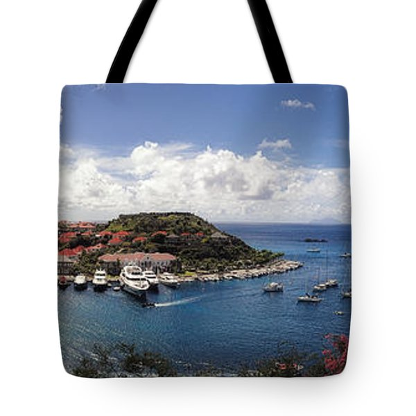Tote Bag featuring the photograph St. Barths Harbor At Gustavia, St. Barthelemy by Lars Lentz