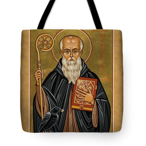 St. Benedict Of Nursia - Jcbnn Tote Bag