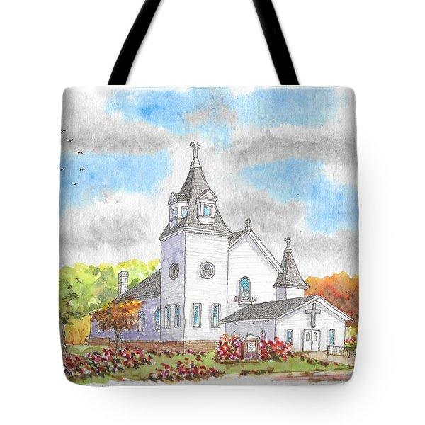 St. Boniface Catholic Church, Walhalla, North Dakota Tote Bag
