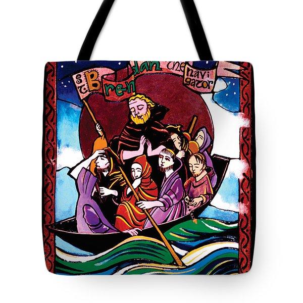 St. Brendan The Navigator - Mmbre Tote Bag