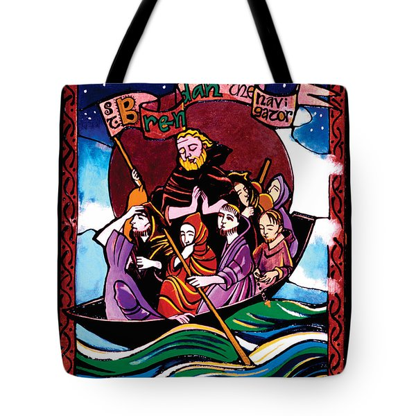 St. Brendan The Navigator - Mmbre Tote Bag