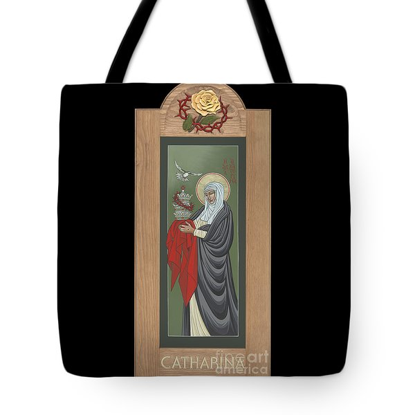Tote Bag featuring the painting St Catherine Of Siena With Frame by William Hart McNichols