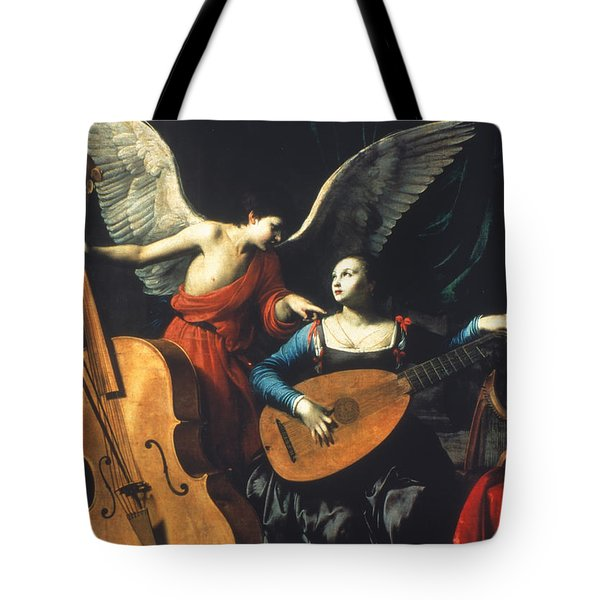 St. Cecilia And The Angel Tote Bag