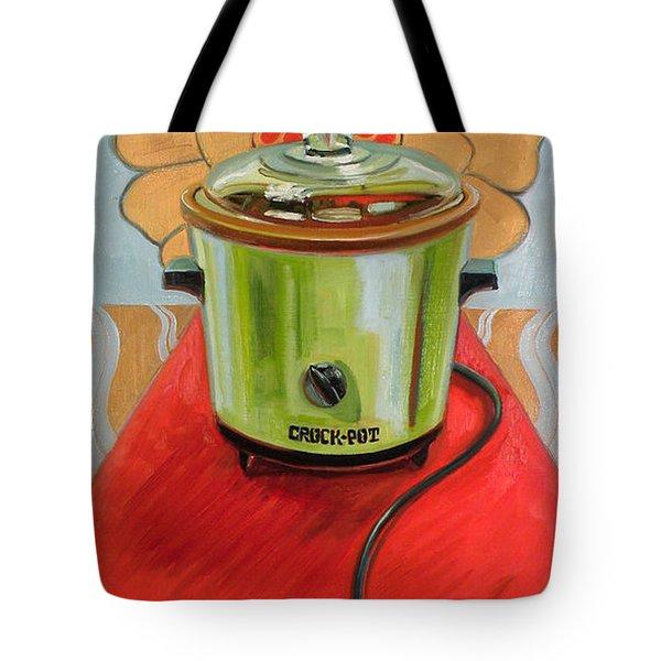 St. Crock Pot Of The Red Carpet Tote Bag