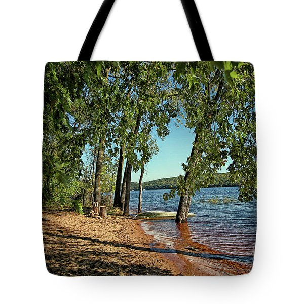 St Croix River Shoreline Tote Bag