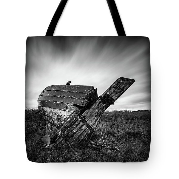 St Cyrus Wreck Tote Bag by Dave Bowman