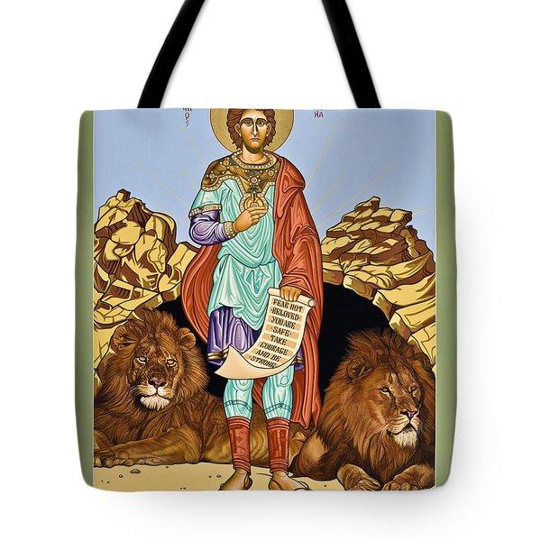 St. Daniel In The Lion's Den - Lwdld Tote Bag