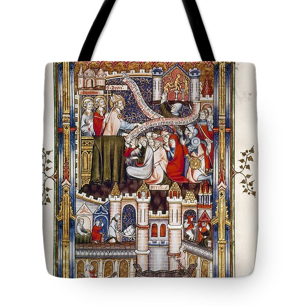 St. Denis Preaching, 1317 Tote Bag by Granger