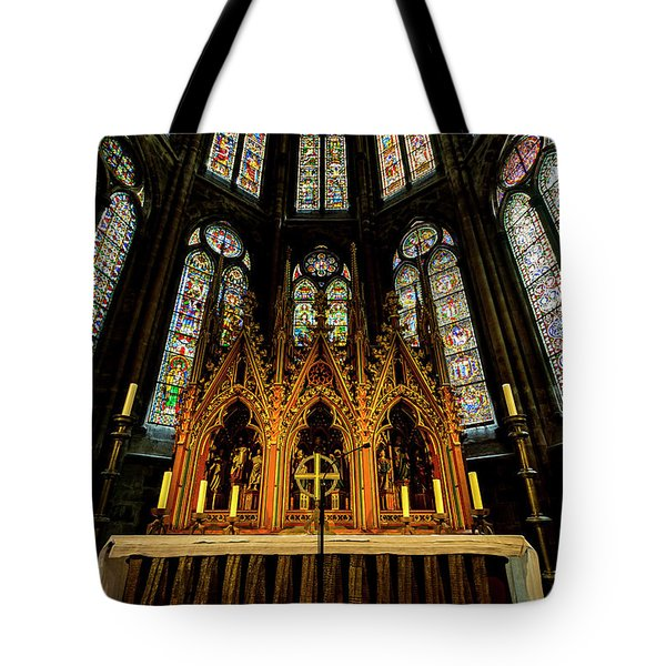 Tote Bag featuring the photograph St. Elizabeth Church by David Morefield