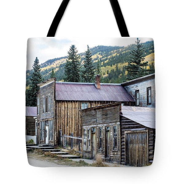 Tote Bag featuring the photograph St. Elmo A Colorado Ghost Town by Nadja Rider