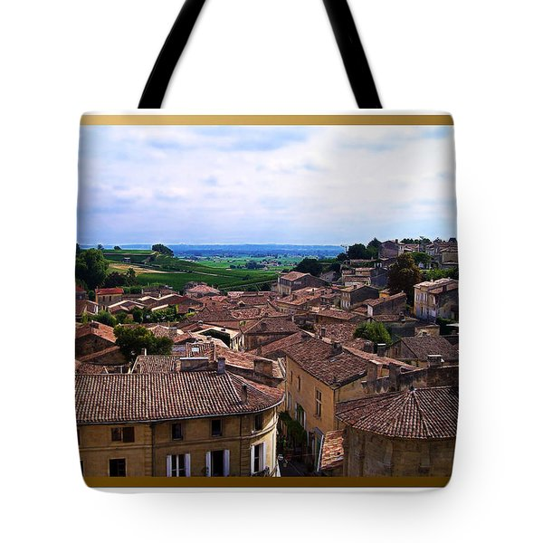 Tote Bag featuring the photograph St. Emilion View by Joan  Minchak