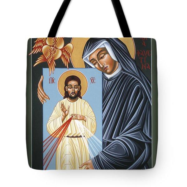 St Faustina Kowalska Apostle Of Divine Mercy 094 Tote Bag