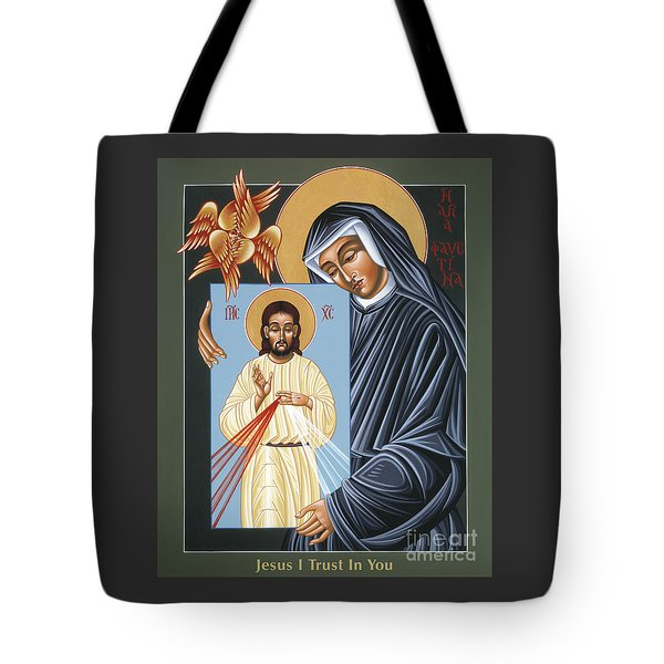 St Faustina Kowalska Apostle Of Divine Mercy 094 Tote Bag