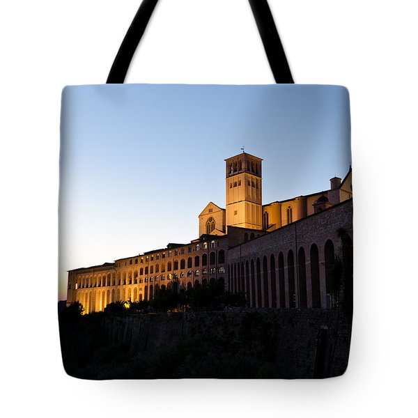 St Francis Assisi At Sundown Tote Bag by Jon Berghoff