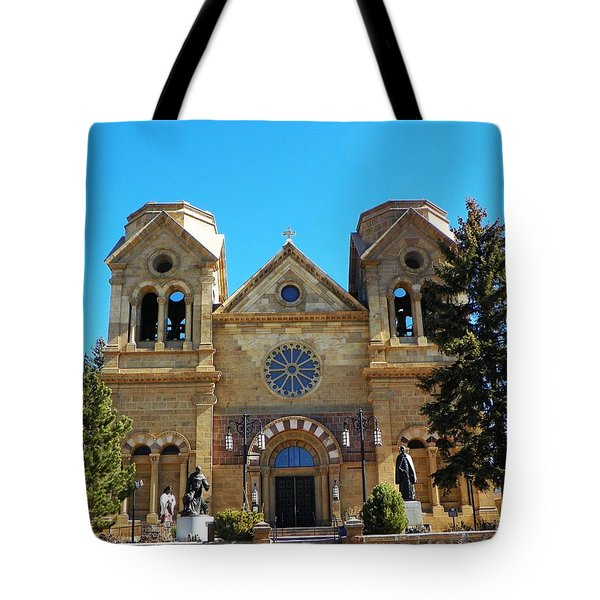 Tote Bag featuring the photograph St. Francis Cathedral Santa Fe Nm by Joseph Frank Baraba