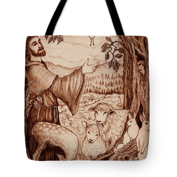 St. Francis Tote Bag by Debra A Hitchcock