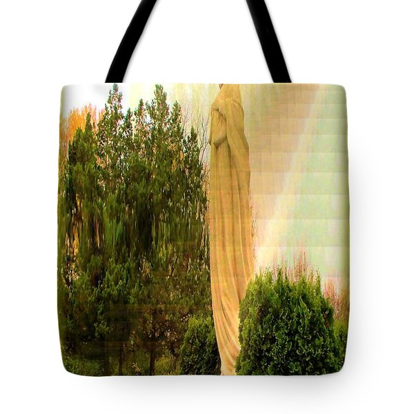 St. Francis In The Light Tote Bag