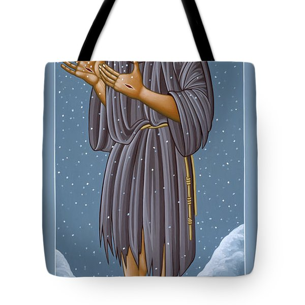 St Francis Wounded Winter Light 098 Tote Bag