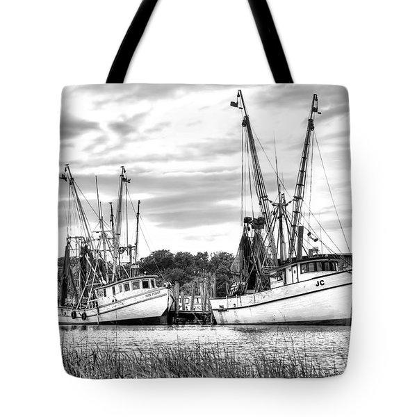 St. Helena Shrimp Boats Tote Bag