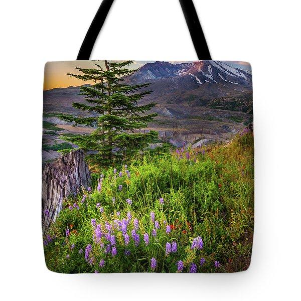 St Helens Caldera Tote Bag by Inge Johnsson