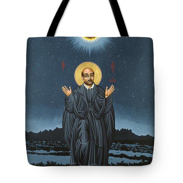 St. Ignatius In Prayer Beneath The Stars 137 Tote Bag