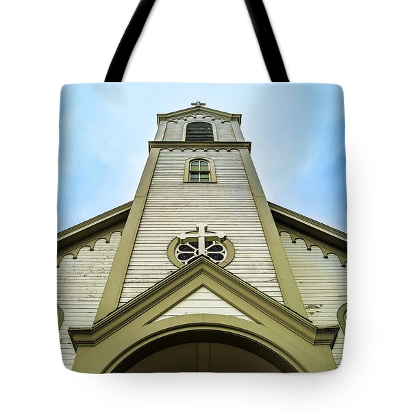 Tote Bag featuring the photograph St. Ignatius Of Loyola Church And Cemetary by Onyonet  Photo Studios