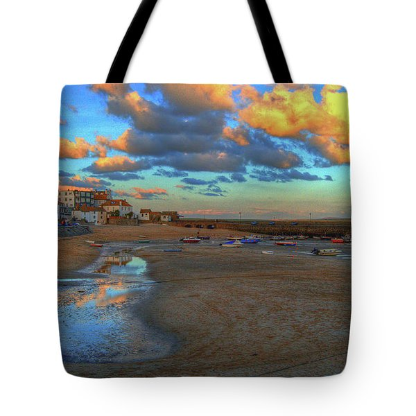 St Ives Clouds And Beach Tote Bag