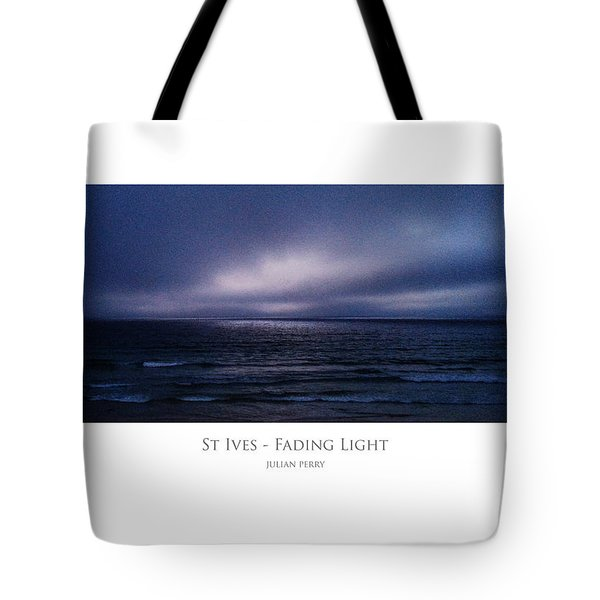 Tote Bag featuring the digital art St Ives - Fading Light by Julian Perry