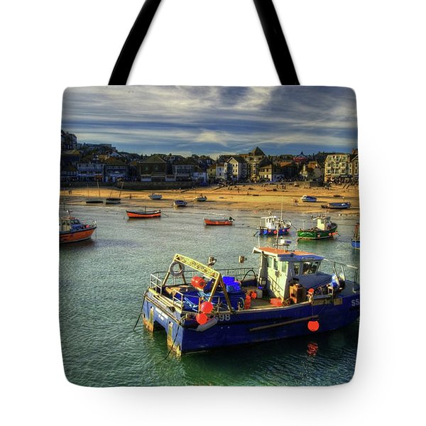 St Ives Harbour And Beach Tote Bag