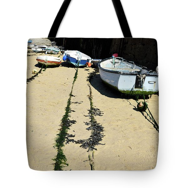 St Ives Harbour Boats Tote Bag