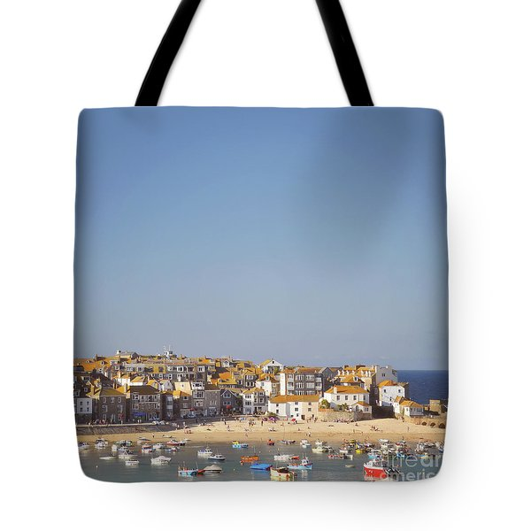 Tote Bag featuring the photograph St Ives Harbour by Lyn Randle