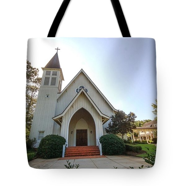 Tote Bag featuring the photograph St. James V3 Fairhope Al by Michael Thomas