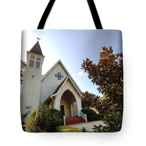 Tote Bag featuring the photograph St. James V4 Fairhope Al by Michael Thomas
