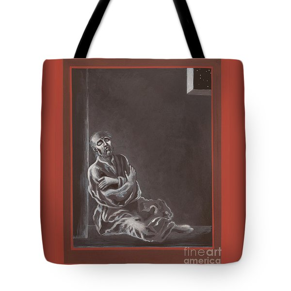 Tote Bag featuring the painting  St John Of The Cross In The Dark Night Of The Soul 290 by William Hart McNichols