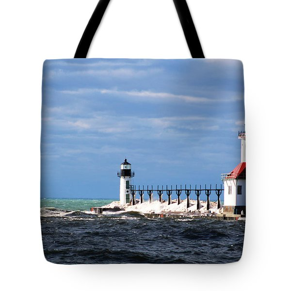 St. Joseph Lighthouse - Michigan Tote Bag