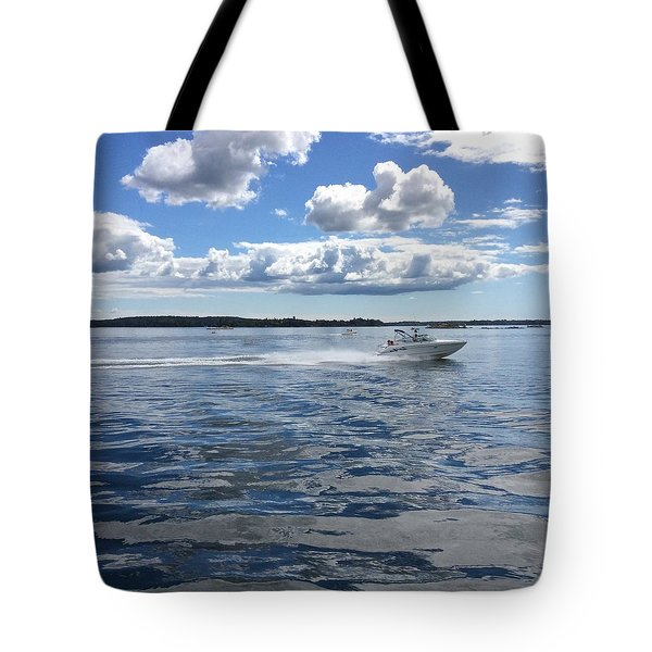 Tote Bag featuring the photograph St. Lawrence Seaway by Pat Purdy