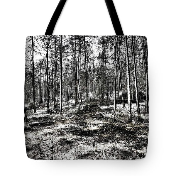 St Lawrence's Wood, Hartshill Hayes Tote Bag by John Edwards