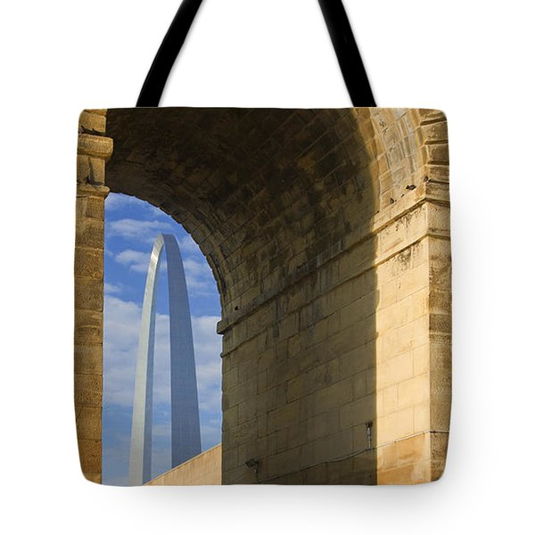 St Louis Arch And Eads Bridge   Tote Bag