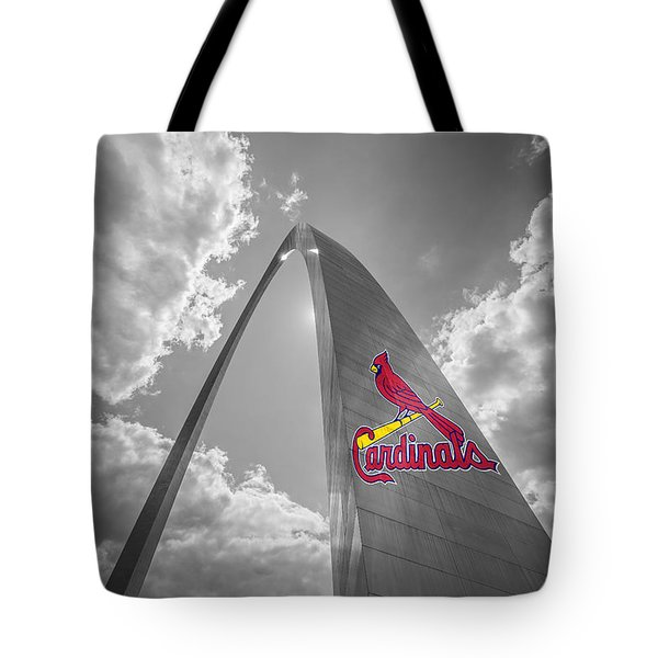 St. Louis Cardinals Busch Stadium Gateway Arch 1 Tote Bag