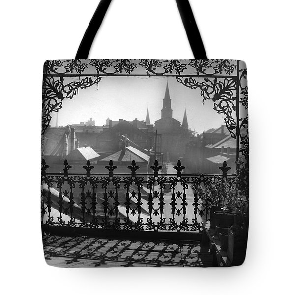 St Louis Cathedral In Frame Tote Bag