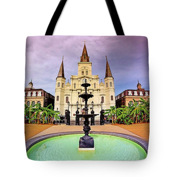 Tote Bag featuring the photograph St. Louis Cathedral - New Orleans - Louisiana by Jason Politte