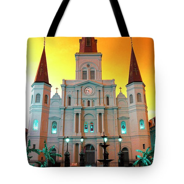 St. Louis Cathedral Pop Art 2011 Tote Bag