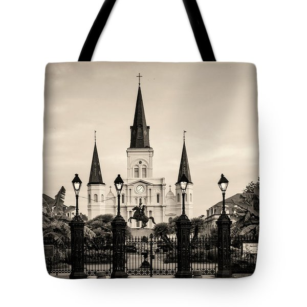 St. Louis Cathedral Sepia Tote Bag